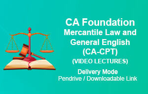 CA Foundation Mercantile Law and General English (CA-CPT)