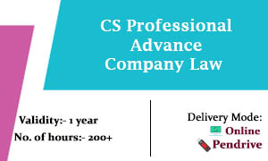 CS Professional Advance Company Law