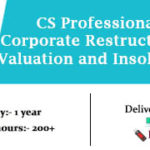 CS Professional Corporate Restructuring Valuation and Insolvency Video Lectures