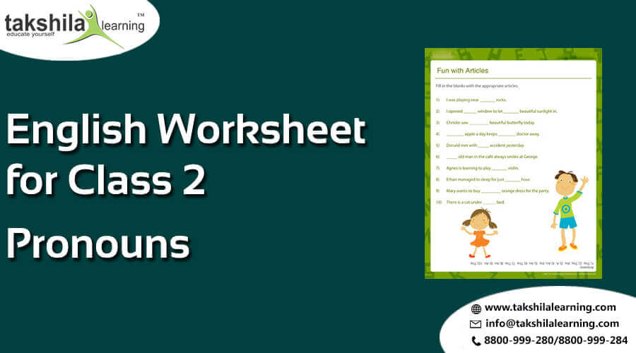 Cbse Class 2 English Worksheets For Pronoun Video Classes