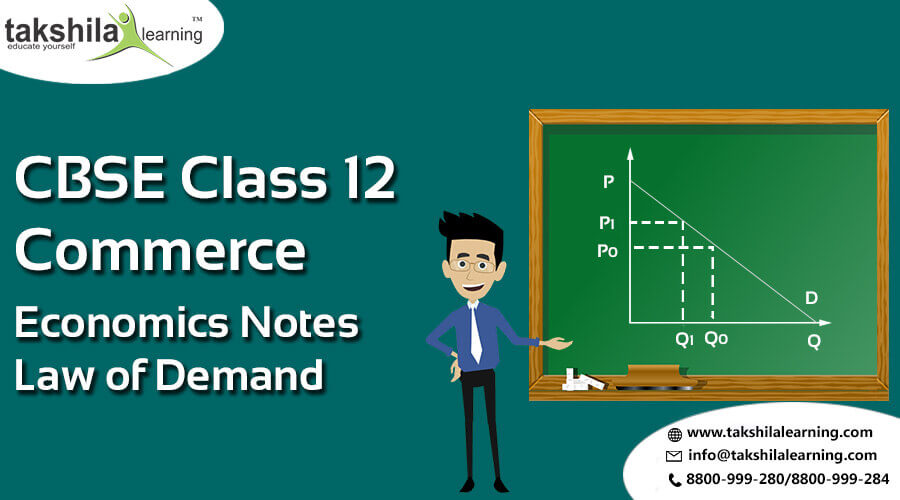 CBSE Commerce Classes - Economics Notes for Class 12 law of demand,Economics online classes