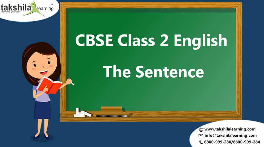 NCERT & CBSE Class 2 English Worksheet Lessons The Sentence