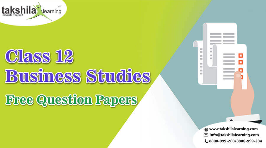 CBSE Sample Papers Class 12 Business Studies | Free Question