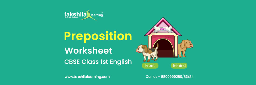 Preposition For Class 1 English Worksheet