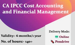 CA IPCC Cost Accounting and Financial Management video lectures