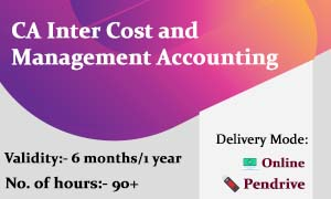 CA Inter Cost and Management Accounting video lectures