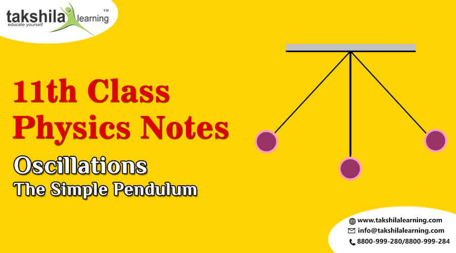 NCERT Physics Notes for Class 11 Oscillations - The Simple