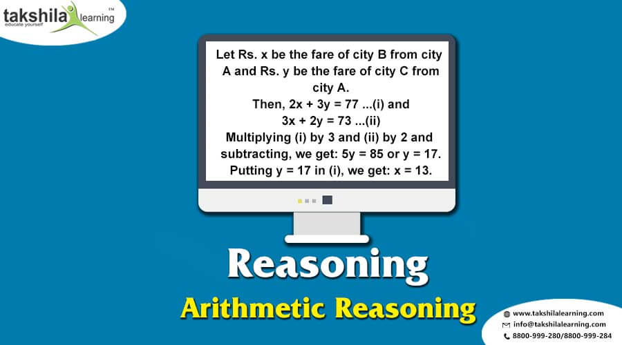 Arithmetic Reasoning Verbal Reasoning Questions and Answers