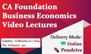 CA Foundation Business Economics Video Lectures