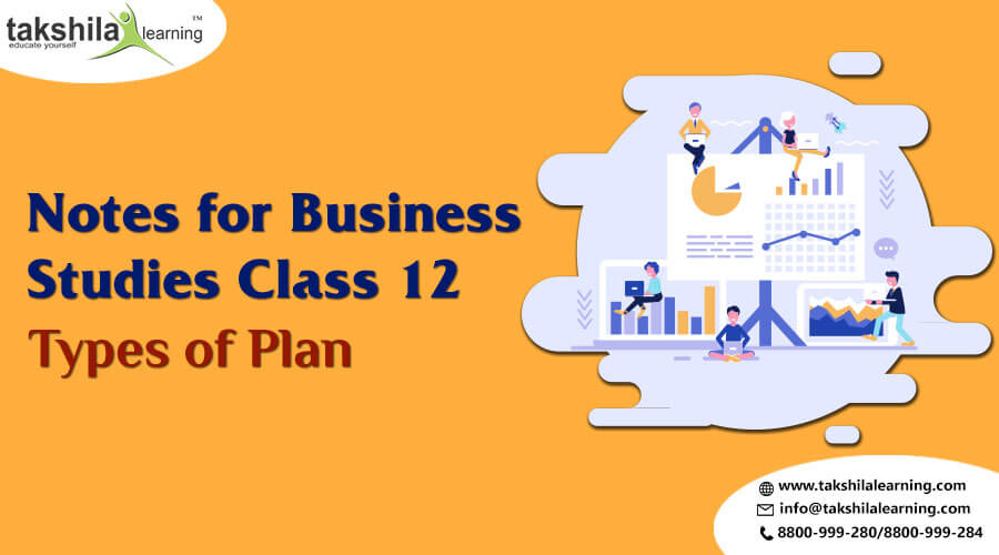 Business studies class 12 notes on What are the types of plans ?