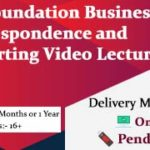 CA Foundation Business Correspondence and Reporting Video Lectures