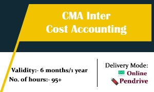 CMA Inter Cost Accounting video lectures & Online Classes