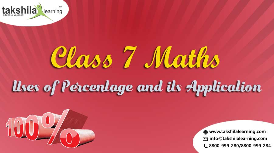 Uses of Percentage and its Application , Application of Percentages CBSE Class 7 Maths Solutions