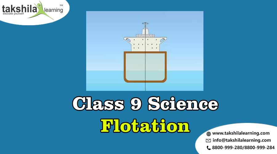 What is the principle and Law of floatation? Class 9 Science