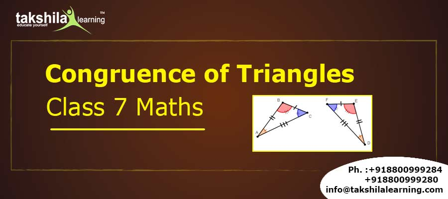 Congruence of Triangles CBSE Class 7 Maths
