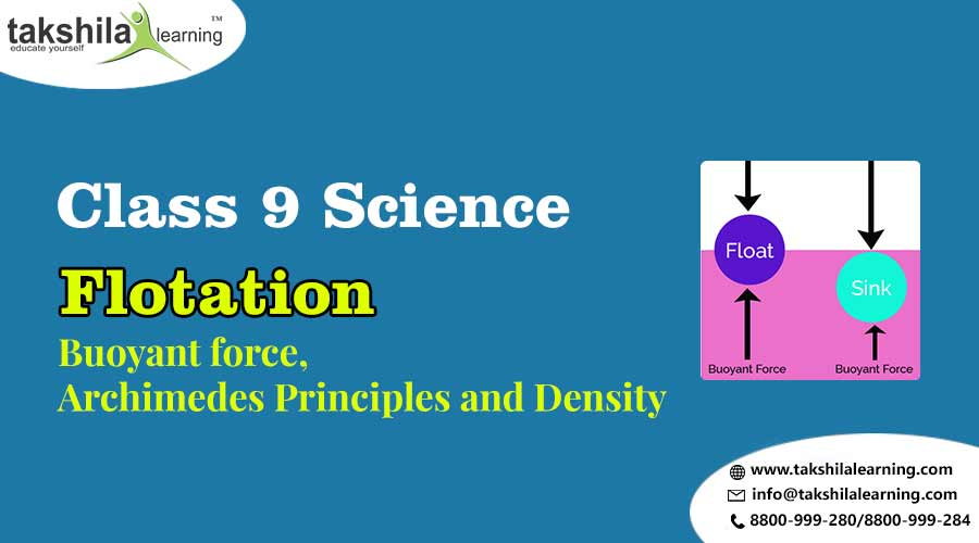 Floatation - Buoyant force, Archimedes Principles and Density Class 9 Science