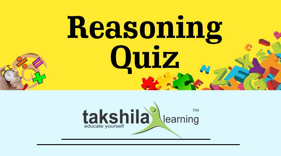 Latest & Free Reasoning Quiz for IBPS CLERK & PO : Part - 13