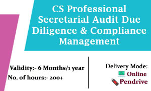 CS Professional Secretarial Audit Due Diligence & Compliance Management