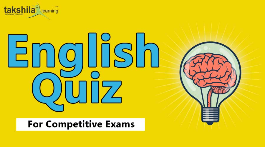 Online English quiz for IBPS, SSC CGL , CHSL & RRB - PART : 53