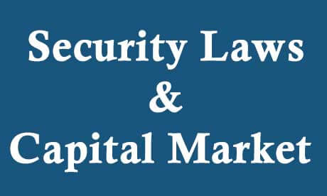 Security Laws & Capital Market For CS Executive - Video Lectures & Online Classes