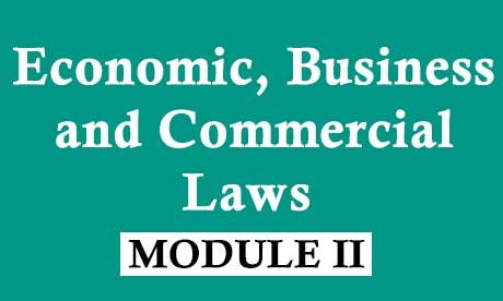 CS Executive Economic Business and Commercial Laws Video Lectures (EBC Online Classes)
