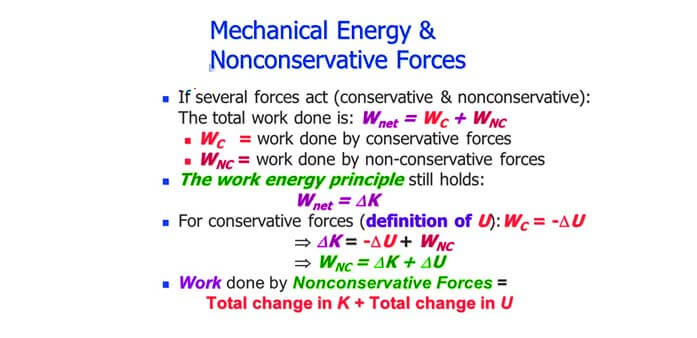 Non Conservative Forces Class 11 Physics - Example, Properties