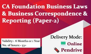 CA Foundation Business Laws & Business Correspondence & Reporting (Paper-2)