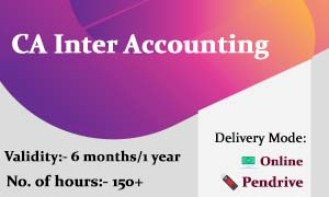 CA Inter Accounting Video Lectures & Online Classes : CA Inter Accounts