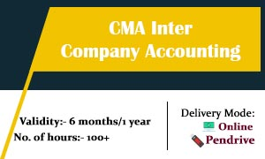 CMA Inter Company Accounts Video Lectures & Online Classes