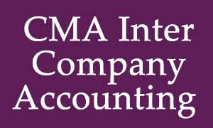 CMA Inter - Company Accounting Video Lectures & Online Classes