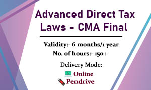Advanced Direct Tax Laws - CMA Final