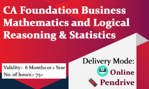 CA Foundation Business Mathematics and Logical Reasoning & Statistics Video Lectures