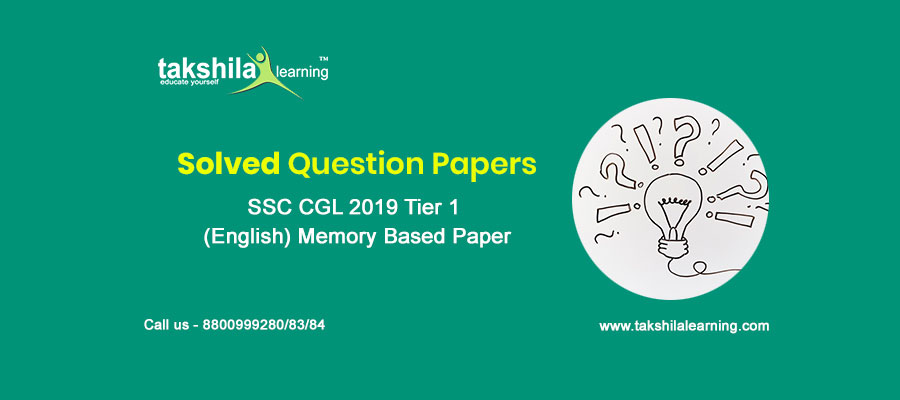 SSC CGL Previous Year Paper English