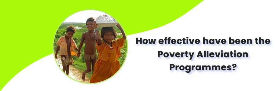 describe current government strategy of poverty alleviation