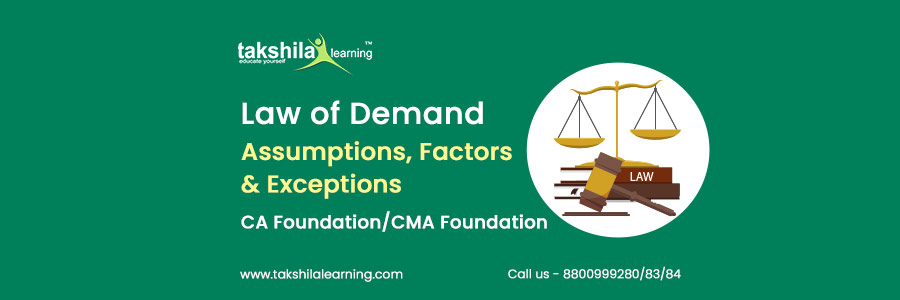 exceptions to the law of demand, assumptions of Law of demand